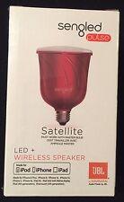 Sengled Pulse Satellite LED Light Bulb+Built-In JBL Wifi Bluetooth Speaker RED