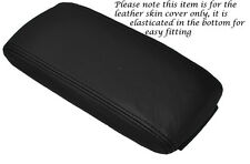 BLACK LEATHER  ARMREST ELASTICATED SKIN COVER FITS AUDI A3 8P S3 03-12