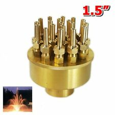 "New 1.5"" Inch 3 Layers Fountain Nozzle 19 Sprinklers Spray Head Pond Pool Brass"