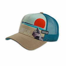 Coastal-Unreal (Khaki/Teal) - High fitted Trucker Cap