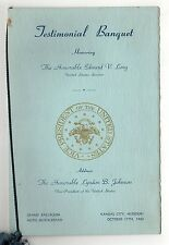 1962 US SENATOR EDWARD LONG Missouri TESTIMONIAL PROGRAM LBJ Truman KANSAS CITY
