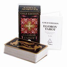 Tarocchi EGOROV TAROT GOLD EDITION 78 Carte Mazzo Nuovo Editore PIATNIK 1992