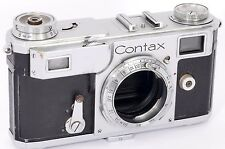 ZEISS Ikon Contax II 35mm Rangefinder Made in 1937 (GOOD+ but spares or repair )