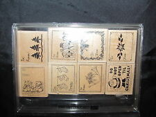 Stampin Up Christmas Gift Tags Rubber Stamp Set Mice Stockings Snowmen Trees Etc