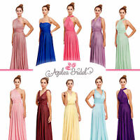 New Maxi Twist Wrap Convertible Multi Way Bridesmaids Prom Dress