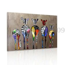Abstract Multicolor Zebra On Canvas Wall Art Prints Painting Picture Unframed