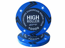 Blister da 25 fiches EPT HIGH ROLLER Replica poker Ceramica 10 gr. valore 10000