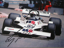 Larry Perkins SIGNED 9x6 , F1 Boro-Ensign N175 , Monaco GP 1976   Rare