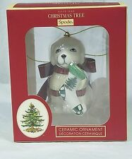 Spode Christmas Tree Ornament, Puppy NIB with Tags MSRP $30