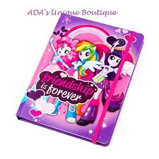 Hasbro My Little Pony Equestria Girls Journal Diary Friendship is Forever NWT