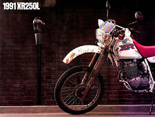 1991 HONDA XR250L MOTOCROSS MOTORCYCLE BROCHURE -XR 250 L-HONDA-XR250 L
