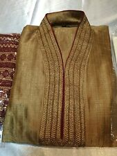 "36"" S Sherwani Suit Indian Bollywood Mens Traditional  Kurtha Bronze Colour #KA1"