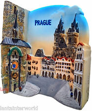 Old Town Hall Square Astronomical Clock Prague Refrigerator 3D Fridge Magnet