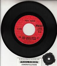 """PAUL SIMON Me And Julio Down By The Schoolyard 7"""" 45 rpm record + juke box strip"""