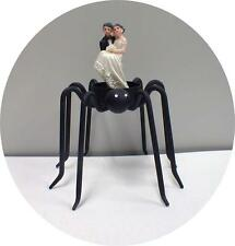 SPIDER Halloween Wedding Cake Topper Bride funny Groom top figure Scary Fall