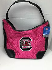 Little EarthNCAA South Carolina Gamecocks Pink Quilted Hobo Purse by Pro.Fan.ity