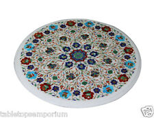 "Size 18""x18"" Marble Coffee Tables Top Marquetry Mosaic Decor Christmas Gifts New"