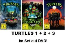 Turtles 1+2+3 (Teenage Mutant Ninja) Der Film, Geheimnis des Ooze 3x DVD NEU+OVP