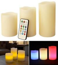 Real Wax Remote Controlled Flameless Candles Colour Change LED Flame Controller