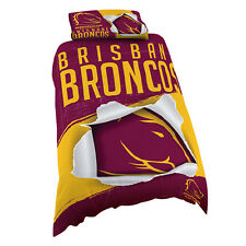Brisbane Broncos NRL Pillow Case Pillowcase Birthday Fathers Day Gift *NEW 2017*