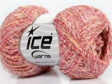 Lot of 8 Skeins Ice Yarns ARCTURUS MOHAIR (20% Mohair 10% Wool) Yarn Light Pink