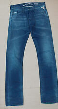 REPLAY WAITOM SLIM MENS JEANS BNWT £140  31w 36L 31 36 BLUE GENUINE