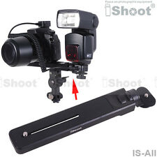 Bracket/Mount/Holder/Support for Canon Nikon Pentax Camera+Flash+TTL Cord/Cable