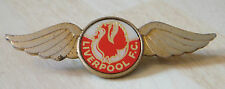 LIVERPOOL Vintage 1970s 80s insert type badge Brooch pin In gilt 53mm x 17mm