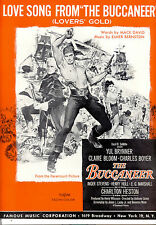 """THE BUCCANEER Sheet Music """"Love Song From"""" Yul Brynner Charlton Heston"""