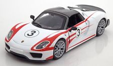 BBURAGO 1:24 DISPLAY PORSCHE 918 WEISSACH #3 DIECAST CAR 24009