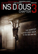 Insidious: Chapter 3 New Sealed DVD, 2015 Paranormal Activity. The Beginning!