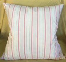 """NEW Shabby Chic Rachel Ashwell Brolly Stripe Pink fabric pillow cover 20"""" square"""