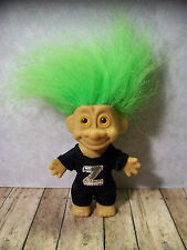 "5"" Green Haired Trollkins Troll - Zoro Masked Rider Outfit, NO Mask or Cape"