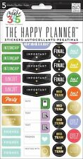 MAMBI Create 365 The Happy Planner School College Stickers 5 Sheets PPS-63 NEW