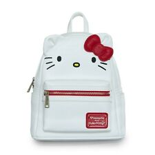 NWT Loungefly Hello Kitty Big Face Mini Faux Leather Backpack