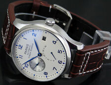 Parnis 43mm White dial Power Reserve Seagull 2530 Automatic mens Watch 134
