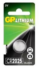 2 x GP 2025 3V Lithium Coin Cell Batteries CR2025 DL2025 Battery - New