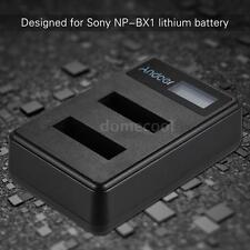 NP-BX1 Camera Battery Dual Charger for SONY DSC-WX/HX/RX HDR-PJ/CX/AS/GW/NV N3A1