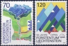 2002 TIMBRE STAMP LIECHTENSTEIN N°1230/1231** MONTAGNE (PROTECTION) MOUNTAINS