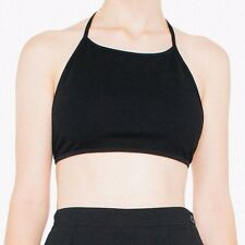 NWOT American Apparel Ponte Halter Top Crop Bralette Black One Size OSFA