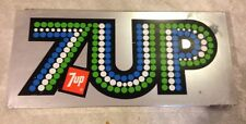 Vintage Retro 7Up 7 Up Chrome Metal Sign