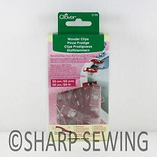 CLOVER WONDER CLIPS (50 PIECES) #3156 CRAFT HOBBY SEW QUILT CROCHET