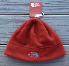 "NWT NORTH FACE ""Standard Issue"" Adult Fleece Beanie Hat-S/M @$25 RAGE RED"