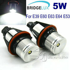 2x BMW E39 E53 Angel Eye Halo Ring Marker Side Light White LED Bulb Error Free