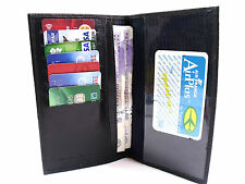 NEW HIGH QUALITY HOLDER NAVY BLUE GENUINE LEATHER CREDIT CARD DOCUMENT HOLDER