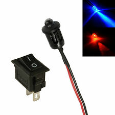 Alternating Red & Blue Car Dummy Fake Alarm LED + Switch 12V