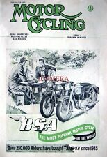 Feb 28 1952 '125cc & 650cc B.S.A.' Motor Cycles AD - Magazine Cover Print ADVERT