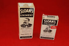 (2) VINTAGE SLOAN'S LINIMENT BOTTLE WITH BOX STANDARD LABORATORIES 2oz-6oz