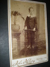 Old cabinet photograph boy with whip by Avery Kingsland london c1890s