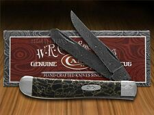 CASE XX PAINTED PONY Damascus Black Matrix Stone Mini Trapper 1/200 Pocket Knife